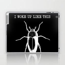 I Woke Up Like This (black background) Laptop & iPad Skin