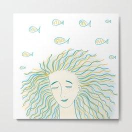 Sea girl Metal Print