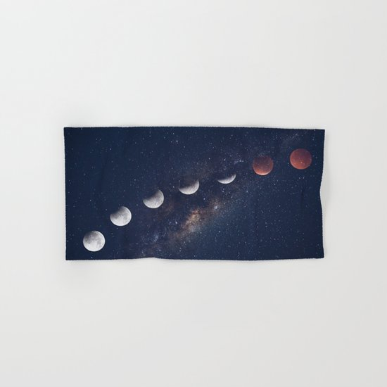phases of the moon Hand & Bath Towel