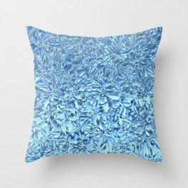 Snowfreeze on windows Throw Pillow