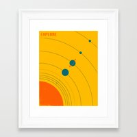explore Framed Art Prints featuring EXPLORE by Jazzberry Blue