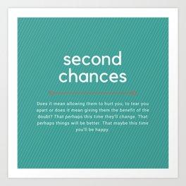 Second Chances Art Print