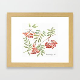 Miss Rowanberry Framed Art Print
