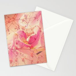 Lightfull Orchid behind little Flowers Stationery Cards