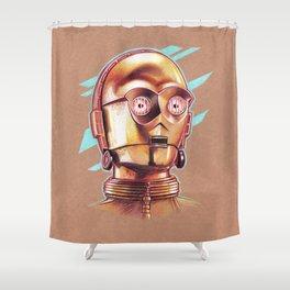Golden Robot C3PO Shower Curtain