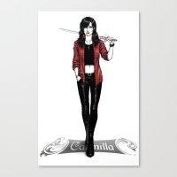 carmilla Canvas Prints featuring Carmilla Karnstein by trixdraws