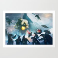 polar bear boss Art Print
