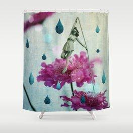 walk in the garden Shower Curtain
