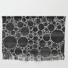 Modern Black and WHITE Textured Bubble Design Wall Hanging