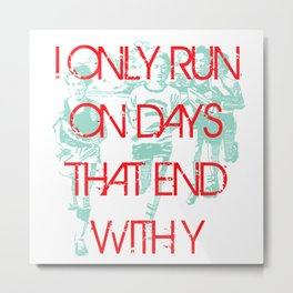 Running Days Metal Print
