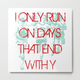 Running Days Metal Print