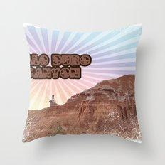 Retro Palo Duro Canyon Throw Pillow