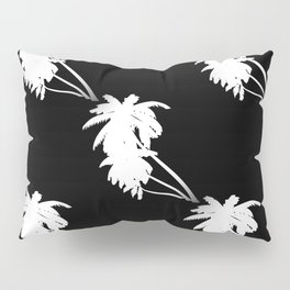 Palm Tree Pattern Black and White Pillow Sham
