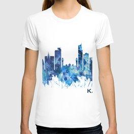 Karachi Skyline Pakistan Blue T-shirt