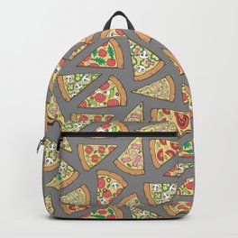 Pizza on Dark Grey Backpack