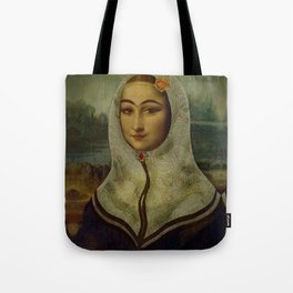 Persian mix: The Mona Lisa Tote Bag