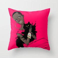AFRIcat Throw Pillow