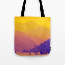 Mountains & Camels Tote Bag