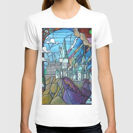 Hogwarts stained glass style T-shirt