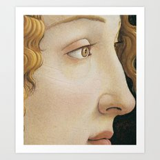 Botticelli 1480  Portrait of Simonetta Vespucci - detail Art Print