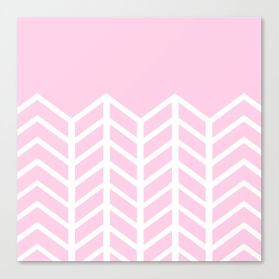 LACE CHEVRON (PINK) Canvas Print