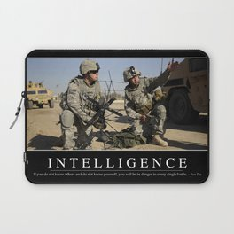 Intelligence: Inspirational Quote and Motivational Poster Laptop Sleeve