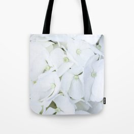 White hortensia flowers Tote Bag