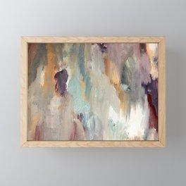 Gentle Beauty [4] - an elegant acrylic piece in deep purple, red, gold, and white Framed Mini Art Print