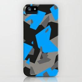 Black\Grey\Blue Geometric Camo iPhone Case
