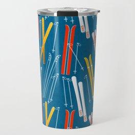 Colorful Ski Pattern Travel Mug
