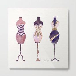 Vintage Dress Forms – Mauve Palette Metal Print