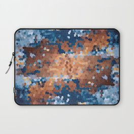 Copper and Denim Abstract Laptop Sleeve