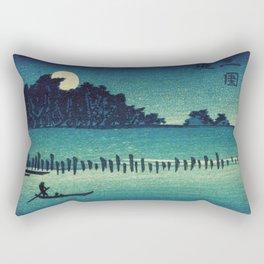 Fukeiga - Vintage Japanese Woodblock Rectangular Pillow