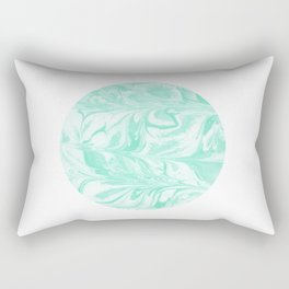 Ryota - spilled ink abstract marble circle trendy must have gift for dorm college student life paint Rectangular Pillow