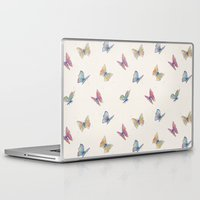 butterflies Laptop & iPad Skins featuring Butterflies by Tracie Andrews