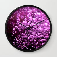 bubble Wall Clocks featuring Bubble by Louise Machado