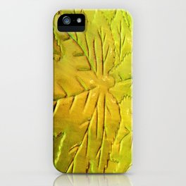 Green Gloss Leafs iPhone Case