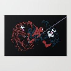 Spider-man - Carnage VS Spidey VS Venom Canvas Print