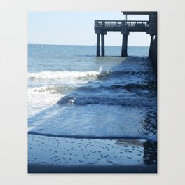 Under the pier at Tybee Island Canvas Print
