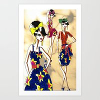 marc jacobs Art Prints featuring Marc Rendition5 by Ashley Love