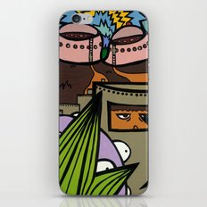 STEP BACK! THIS is OUR ELECTROMAGNETIC RECHARGING STATION! iPhone & iPod Skin
