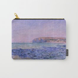 """Claude Monet """"Shadows on the Sea. The Cliffs at Pourville"""" Carry-All Pouch"""
