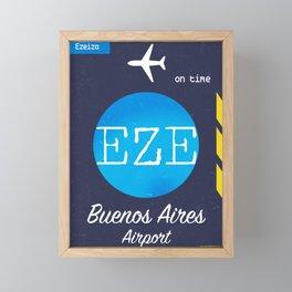 EZE Buenos Aires airport Framed Mini Art Print