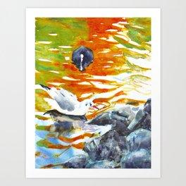 October reflections II Art Print