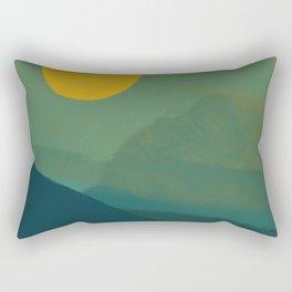 The Hills Felt Green That Evening Rectangular Pillow