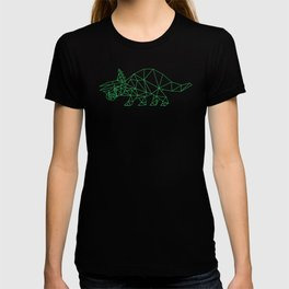 Triceratops Geometric Low poly Dinosaur T-shirt