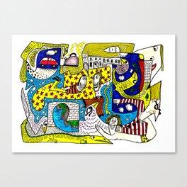 Squoodle 5 Canvas Print