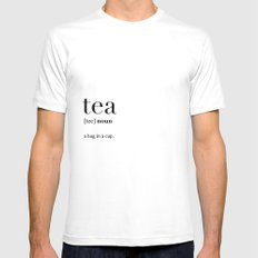 Tea definition Mens Fitted Tee SMALL White