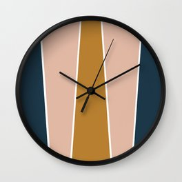 Retro Autumn Color Block Wall Clock