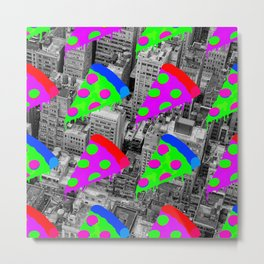 Pizza Invasion NYC Metal Print